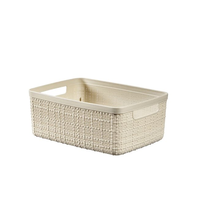 Jute Basket - Off White (3 Sizes) - 0