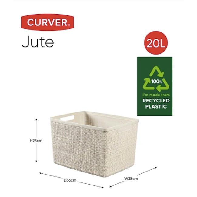 Jute Basket - Off White (3 Sizes) - 9