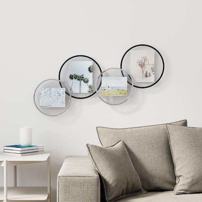 Infinity Round Photo Display - Small - Black - 4