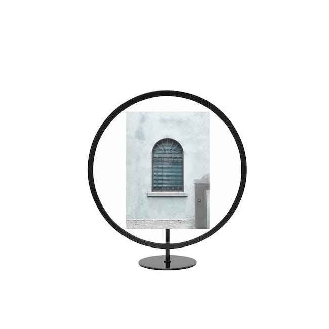 Infinity Round Photo Display - Small - Black - 0