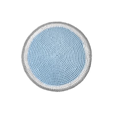 Crochet Round Rug - Soft Blue - Image 2