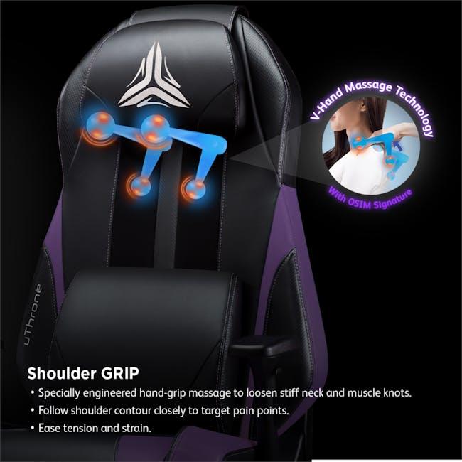 OSIM uThrone Gaming Massage Chair - Self Assembled - Black - 2