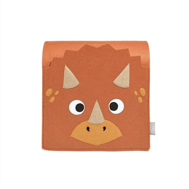Little Stackers Bed Pocket - Troy Triceratops - 0