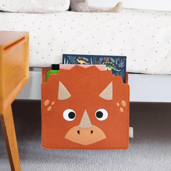 Little Stackers Bed Pocket - Troy Triceratops - 1