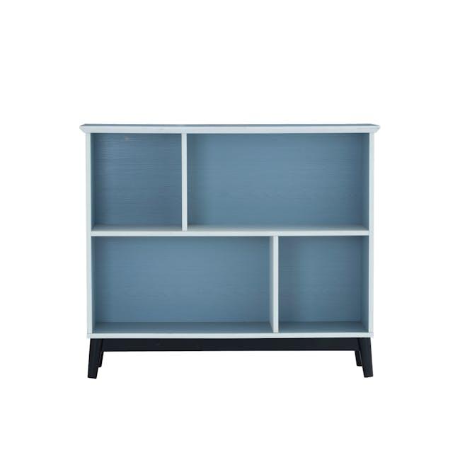 Howard Low Bookshelf - Light Blue, White - 0