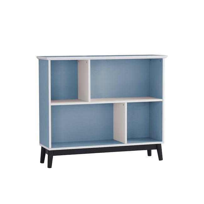 Howard Low Bookshelf - Light Blue, White - 1