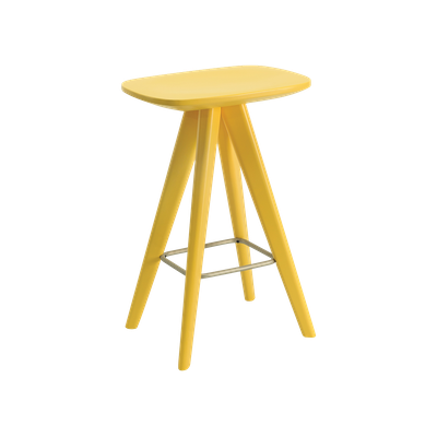 Freya Counter Stool - Dust Yellow Lacquered - Image 1