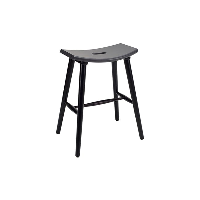 Holly Counter Stool - Black, Graphite Grey - 2