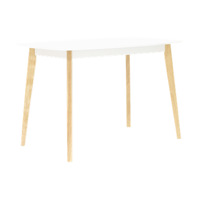 Harold Dining Table 1.2m - Natural, White - Image 2