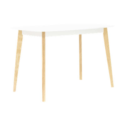 (As-is) Harold Dining Table 1.2m - Natural, White - 8 - Image 2