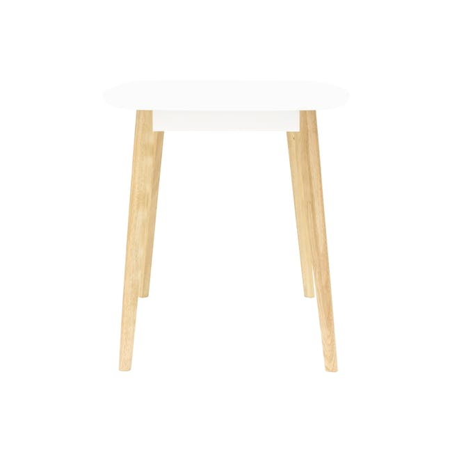 Harold Dining Table 1.2m in White with 4 Ladee Dining Chairs in Pale Silver - 4