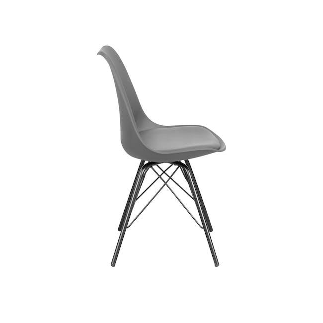 Axel Chair - Black, Grey - 1