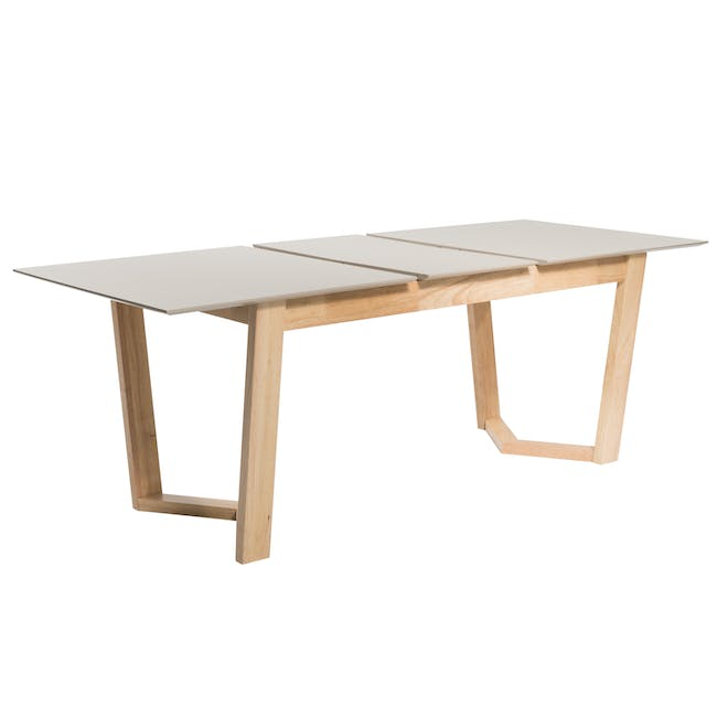 Meera Extendable Dining Table 1.6m - Natural, Taupe Grey - 6
