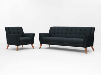 Stanley 3 Seater Sofa with Stanley Armchair - Image 2