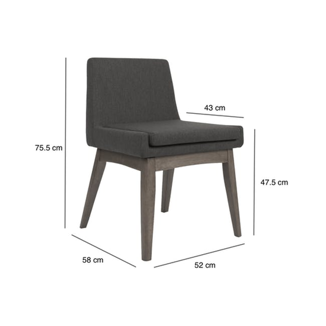 (As-is) Fabian Dining Chair - Cocoa, Mud - 15