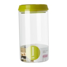1.2L Glass Jar With Handle Lock Cover - Green