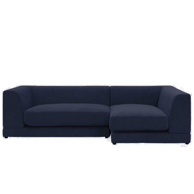 Abby L-Shaped Lounge Sofa - Navy - 0