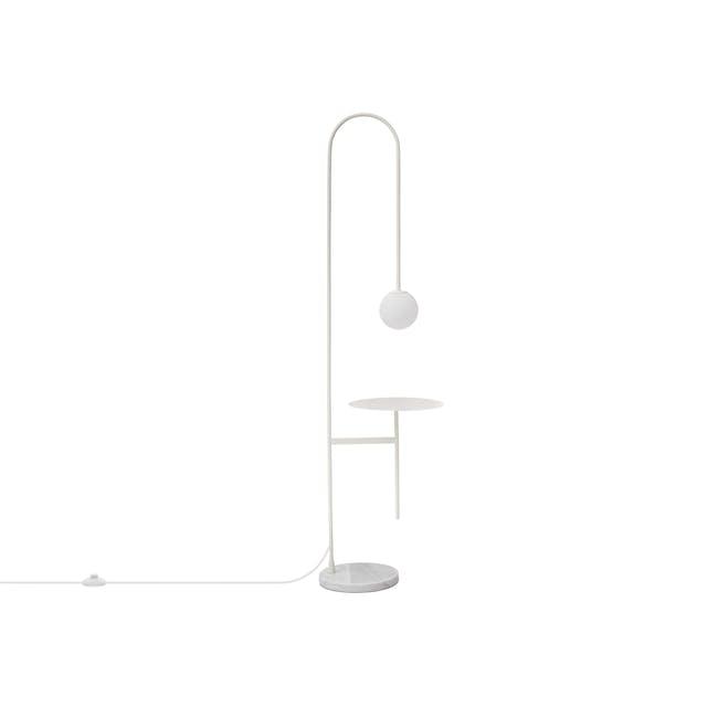 Cilja Floor Lamp with Table - White - 1