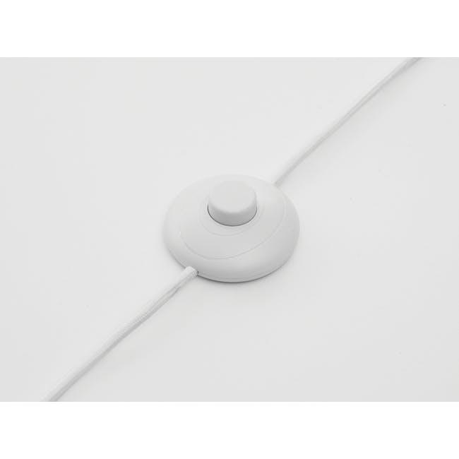 Cilja Floor Lamp with Table - White - 4
