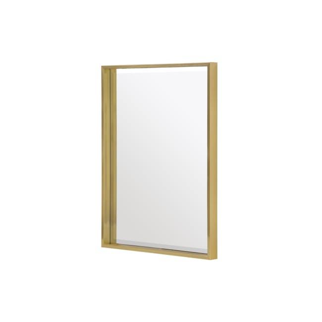 Julia Half-Length Mirror 60 x 80 cm - Brass - 1