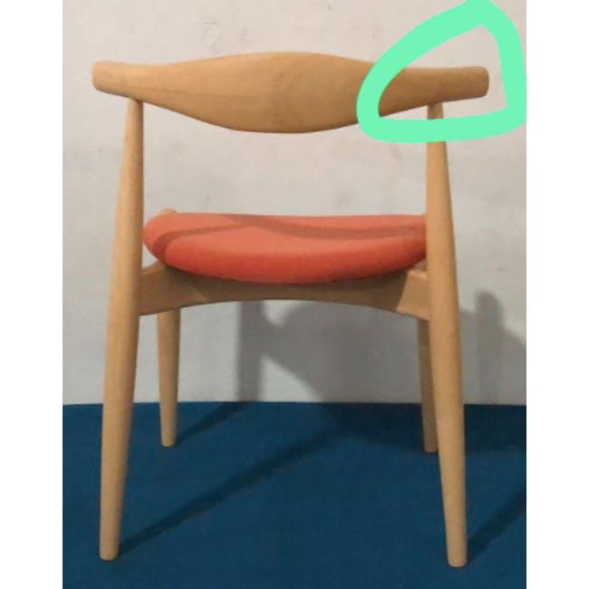 (As-is) Bouvier Dining Chair - Oak, Carrot - 1 - 1