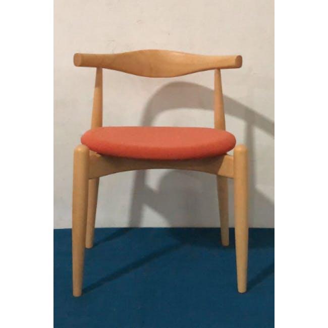 (As-is) Bouvier Dining Chair - Oak, Carrot - 1 - 2