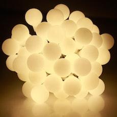 Mini White Globe String Lights - Warm