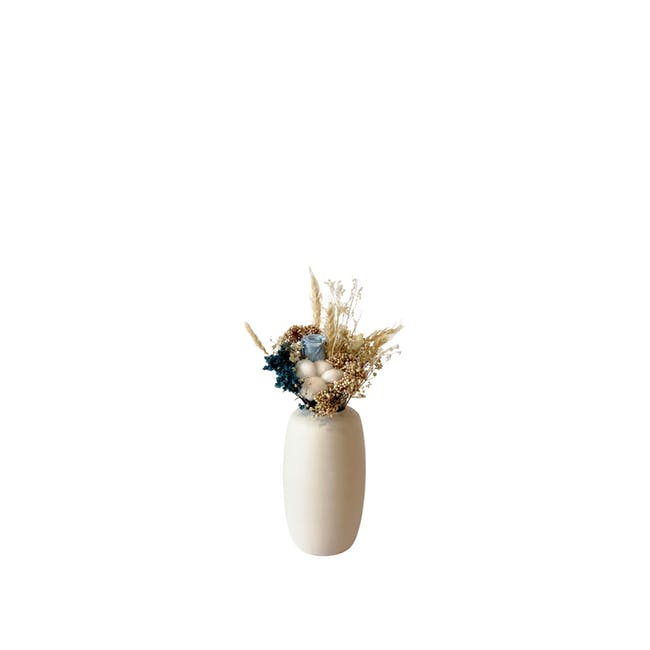 Medium Cylinder Floral Clay Vase - Design 5 - 0