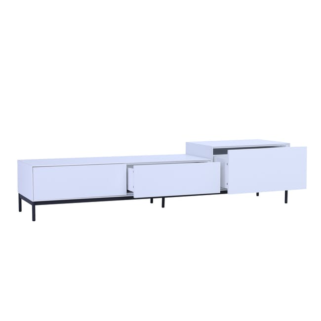 Lamont TV Cabinet 1.8m - White - 1