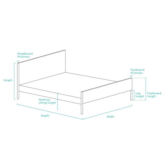 Chen Dynasty - ESSENTIALS King Headboard Divan Bed - Denim (Fabric)