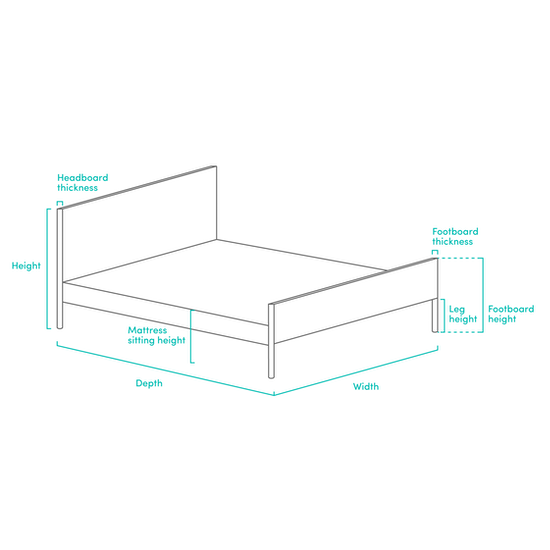 Chen Dynasty - ESSENTIALS King Headboard Divan Bed - Smoke (Fabric)