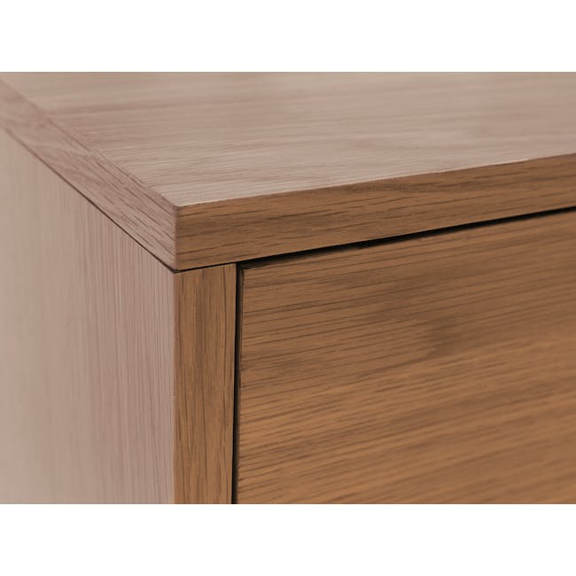 Audrey Queen Storage Bed in Seal Grey with 2 Kyoto Top Drawer Bedside Tables in Walnut - 13