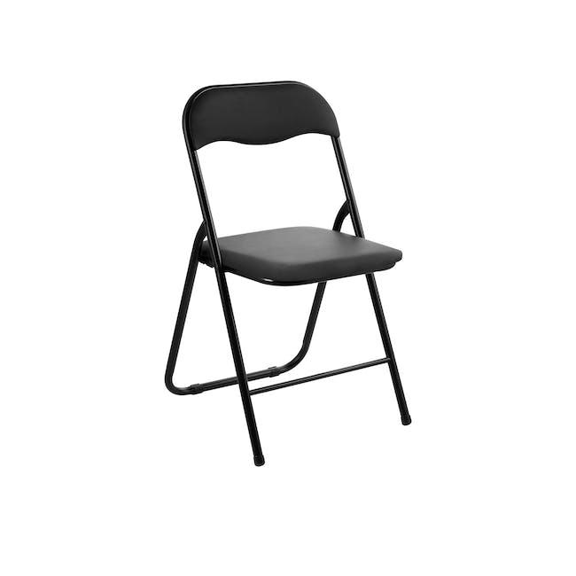 (As-is) Meko Folding Chair - Black - 1 - 0