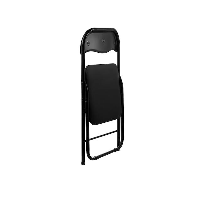 (As-is) Meko Folding Chair - Black - 1 - 10