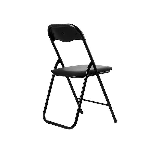(As-is) Meko Folding Chair - Black - 1 - 12
