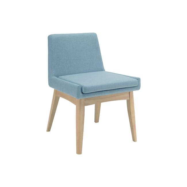 Fabian Dining Chair - Natural, Aquamarine - 0