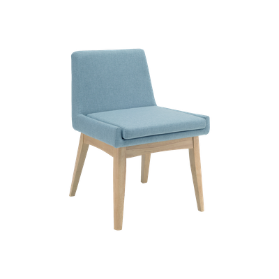 Fabian Dining Chair - Natural, Aquamarine - Image 1