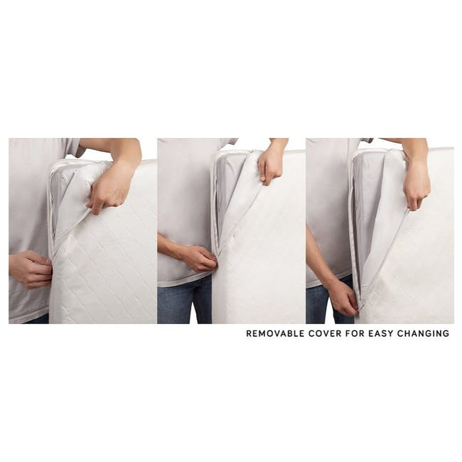 Pure Core Crib Mattress + Organic Hybrid Waterproof Cover [Firm] - 3