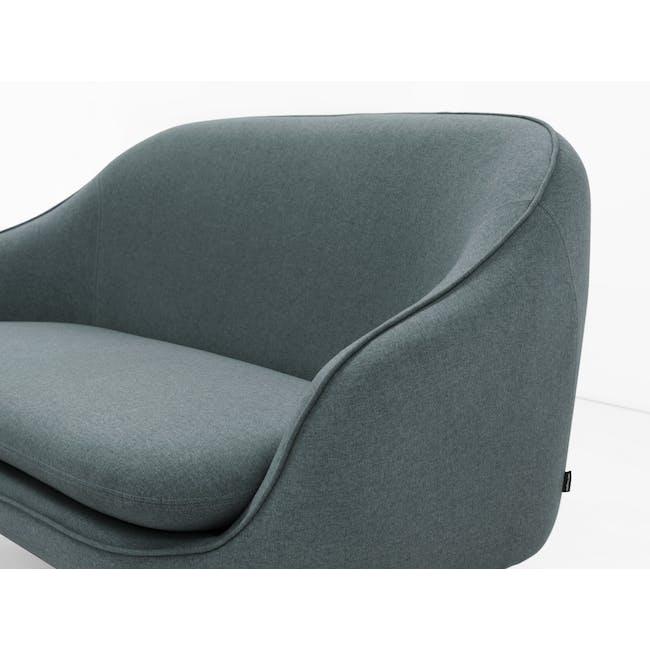 Quinn 2 Seater Sofa with Quinn Armchair - Marble Blue - 3