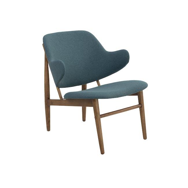 Vezel Lounge Chair - Walnut, Nile Green - 0