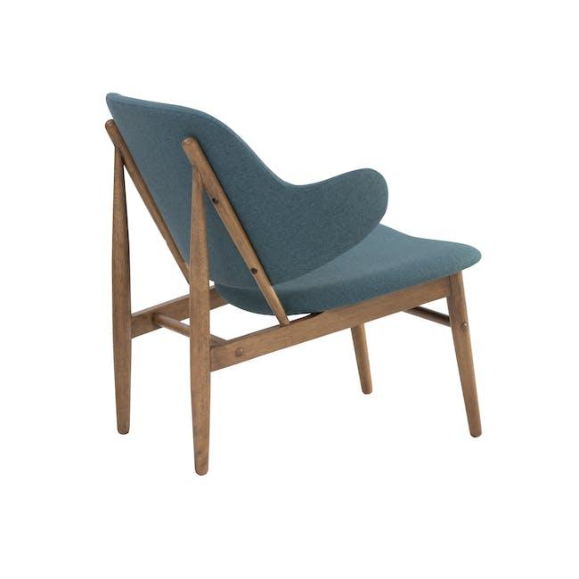 Vezel Lounge Chair - Walnut, Nile Green - 3