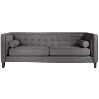 Saffron 3 Seater Sofa - Dark Grey - Image 1