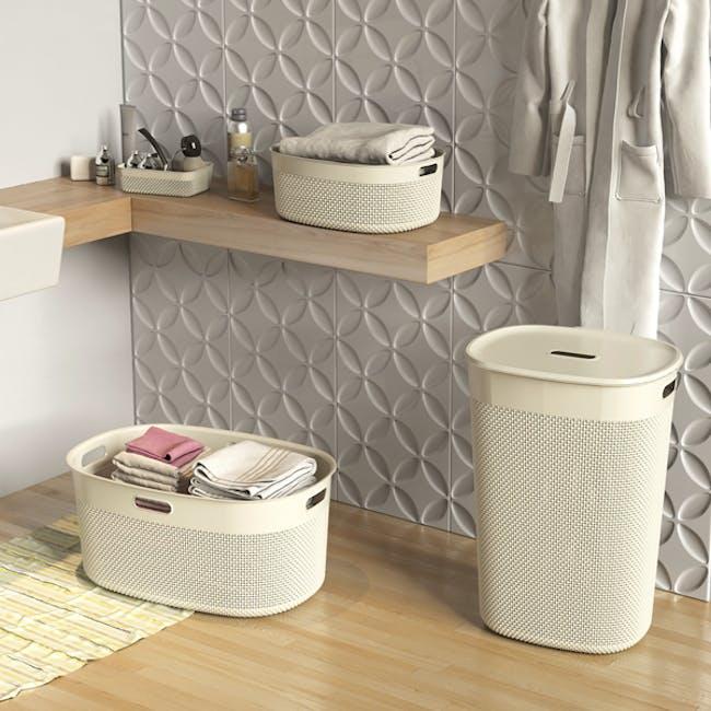 Filo Laundry Basket - Desert Rose - 1