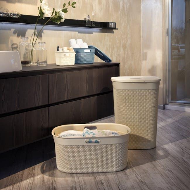 Filo Laundry Hamper - Romantic Ivory - 3