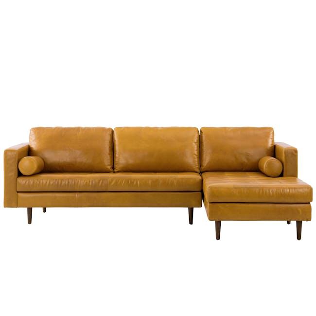 Nolan L-Shaped Sofa - Butterscotch (Premium Waxed Leather) - 0