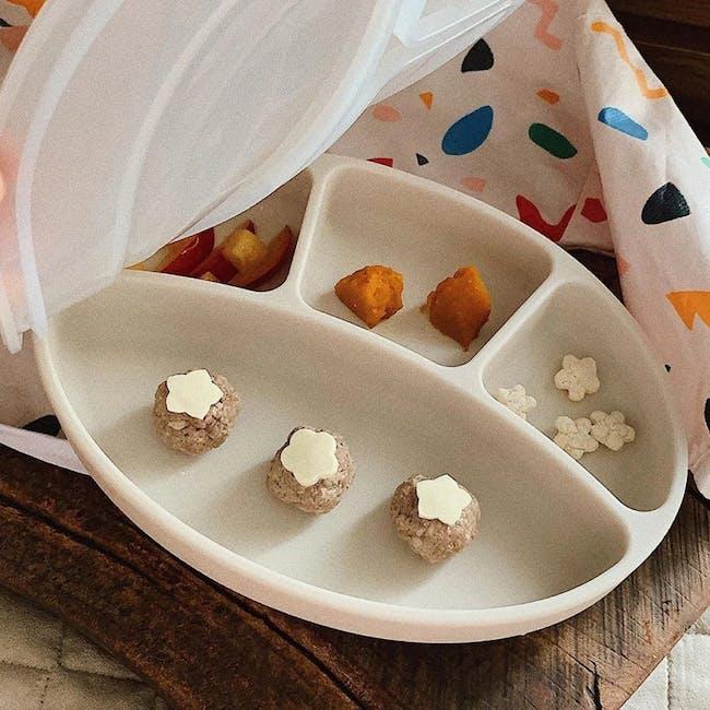 MODU'I Silicone Suction Plates - Cream - 7