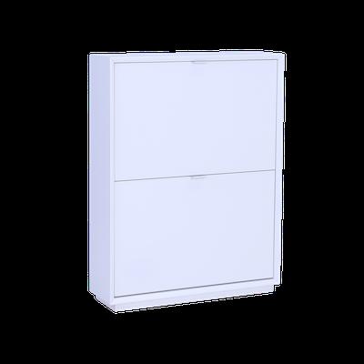 Quen 2 Door Shoe Cabinet - White - Image 1