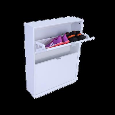 Quen 2 Door Shoe Cabinet - White - Image 2