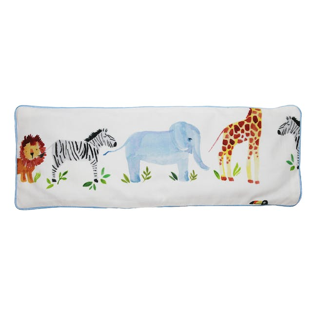 Zoo Snuggy Beansprout Husk Pillow - Blue (Organic Cotton) - 0