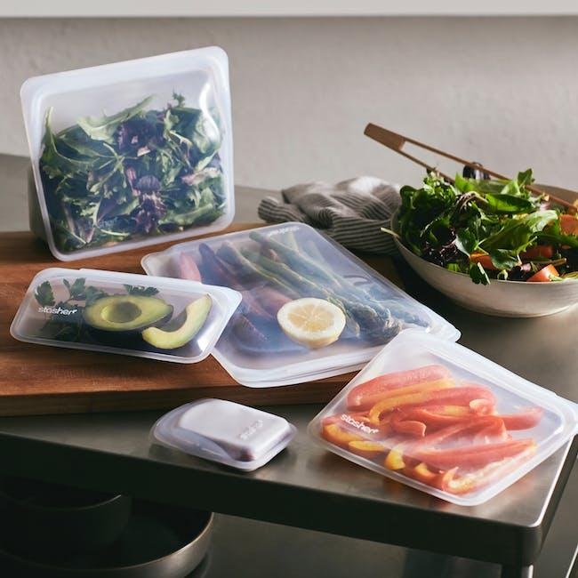 Stasher Reusable Silicone Bag - Half Gallon - Clear - 7